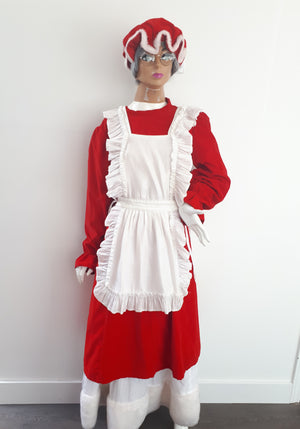 COSTUME RENTAL - S110 Mrs Clause-6pcs