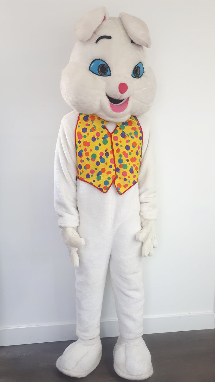 COSTUME RENTAL - R159 White Bunny Mascot
