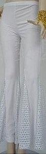 COSTUME RENTAL - X260 Disco pants, White, Female