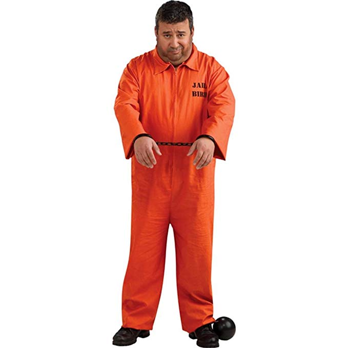 ADULT COSTUME: Prisoner Plus Costume