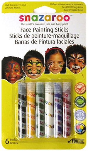 MAKEUP: Snazaroo Face Painting Sticks - Girls set of 6