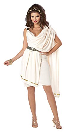 ADULT COSTUMES:  Women's Deluxe Toga