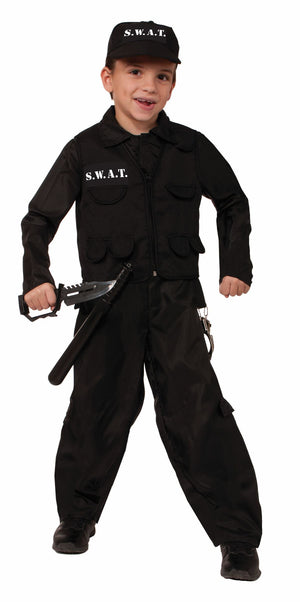 KIDS COSTUME: Swat policeman costume