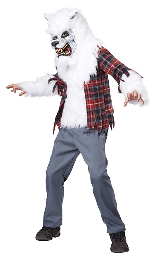 KIDS COSTUME: White Werewolf costume