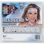 ACCESS: Headband, DIsco Sequin silver