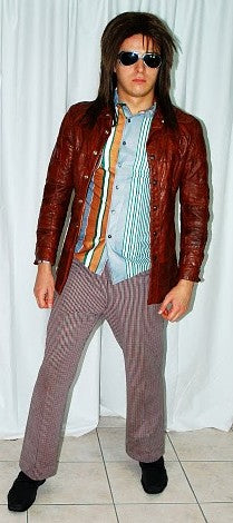 COSTUME RENTAL - X114 Retro Jacket, Leather Brown