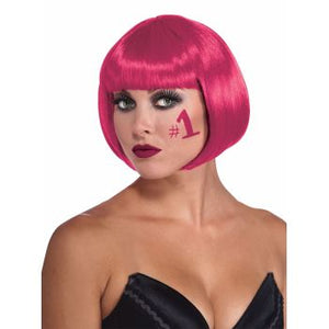 WIG:  COLORED BOB WIG - BURGUNDY