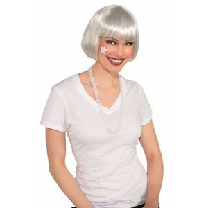 WIG:  COLORED BOB WIG - WHITE