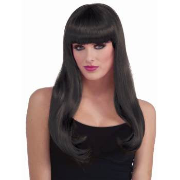 WIG: Long black wig with bangs