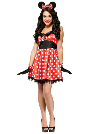 ADULT COSTUME:  Retro Miss Mouse Costume