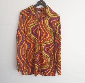 COSTUME RENTAL - X42 Disco Shirt, Psychedelic