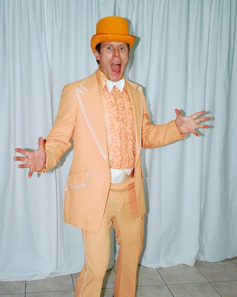 COSTUME RENTAL - X49 1970'S Tuxedo, Orange