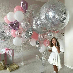 "NOVELTIES: 36"" Clear with glitter balloon"