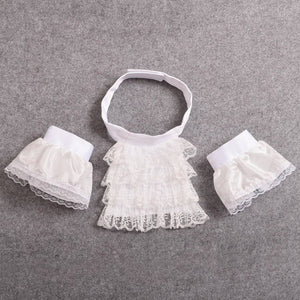 ACCESS:  Victorian Ruffled Lace Jabot with cuffs