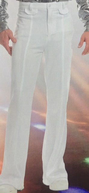 COSTUME RENTAL - X81 Disco Pants, White 32 inch