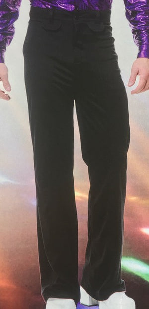 COSTUME RENTAL - X88 Disco Pants, Black 34 inch