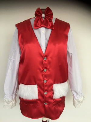 COSTUME RENTAL - S121 Christmas Vest and bowtie