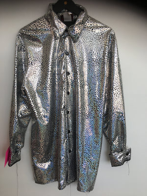COSTUME RENTAL - X19 Disco Shirt, Silver Snake