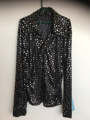 COSTUME RENTAL - X17 Disco Shirt, Black Starlight