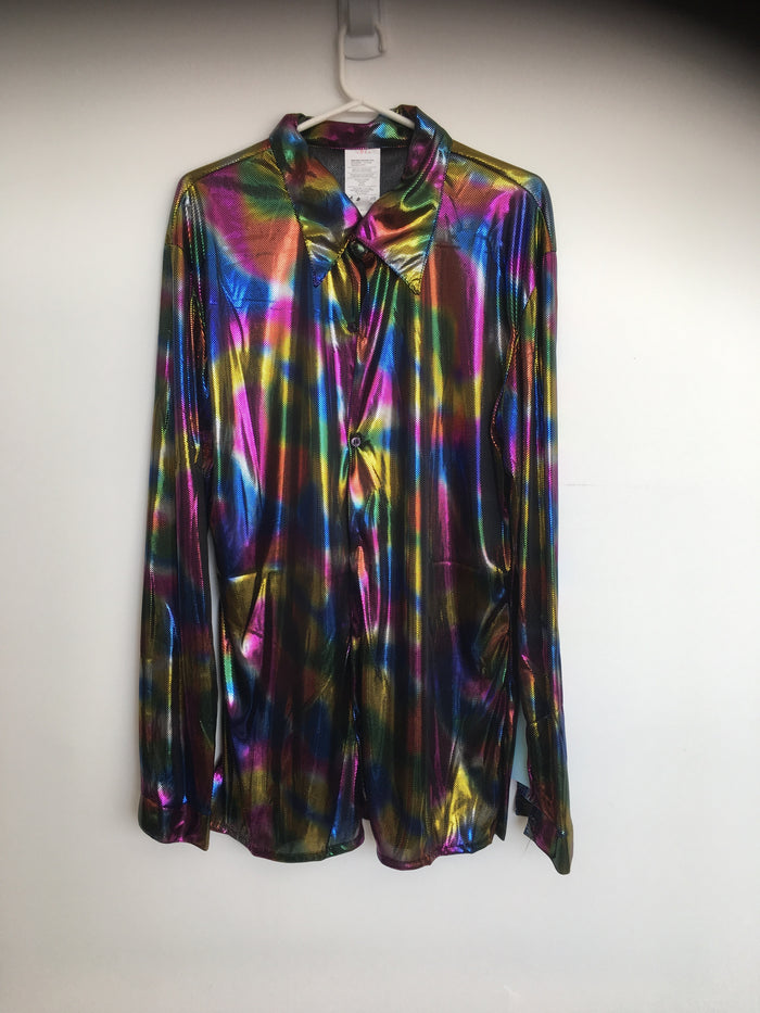 COSTUME RENTAL - X21 Disco Shirt, Rainbow