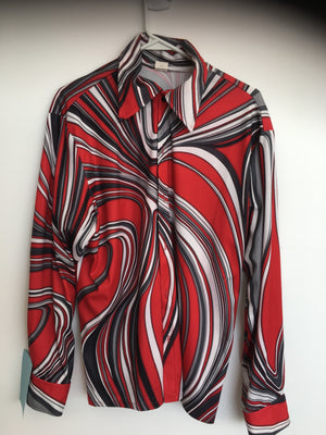 COSTUME RENTAL - X43 Disco Shirt, red oil slick