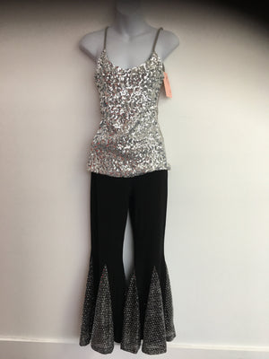 COSTUME RENTAL - X248 Tank, Sequin Silver
