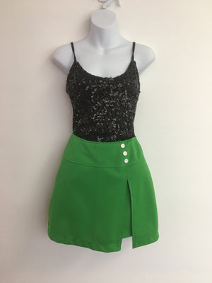 COSTUME RENTAL - X316 1960's green retro skirt/shorts