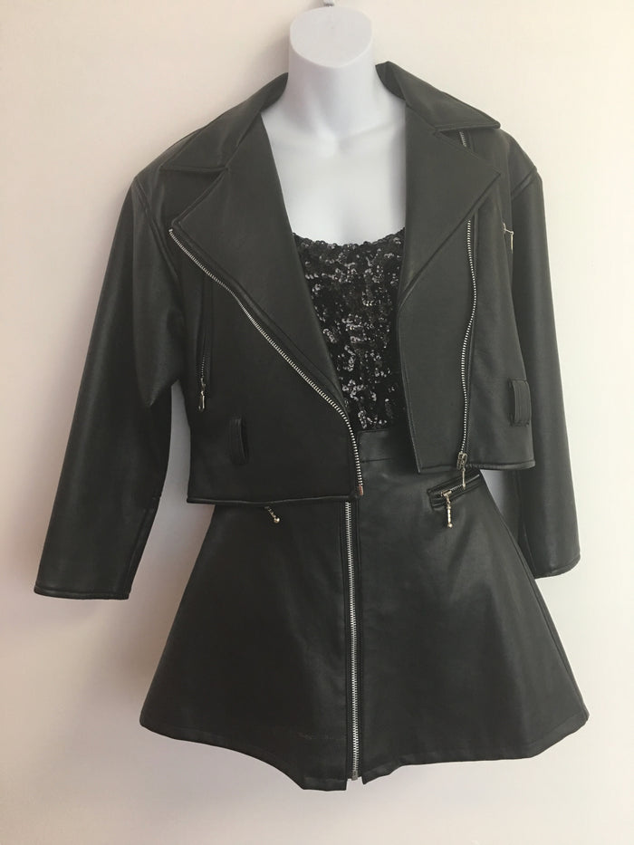 COSTUME RENTAL - Y3 1980's Leather Biker Jacket