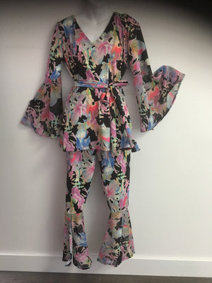 COSTUME RENTAL - X268B Floral Disco Outfit 3pc