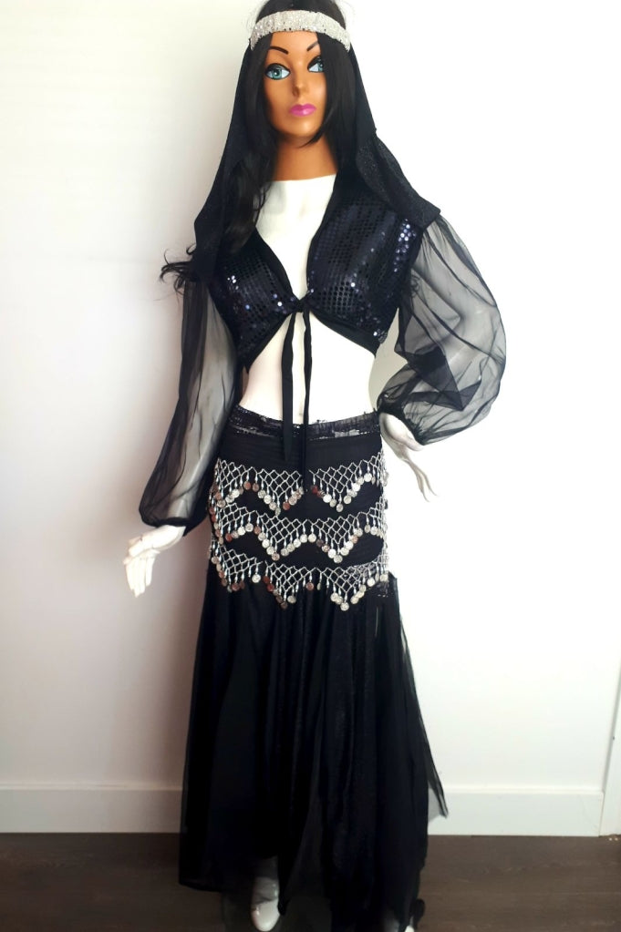 COSTUME RENTAL - I3 Harem Girl Black and Silver..