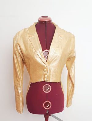 COSTUME RENTAL - L11 Tailcoat, glitter gold