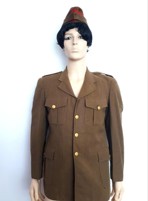 COSTUME RENTAL - O14 Green Canadian Artillery Jacket and hat