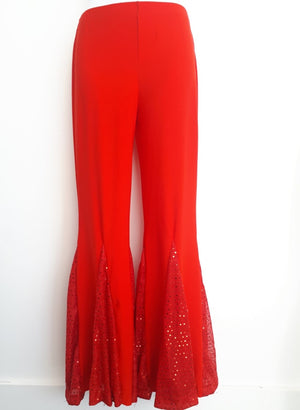 COSTUME RENTAL - X258 Disco Pants, Red, Female
