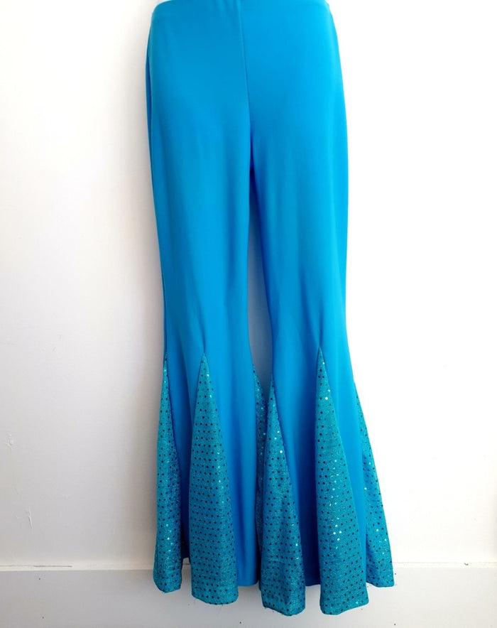 COSTUME RENTAL - X256A Disco Pants, Light Blue, Female