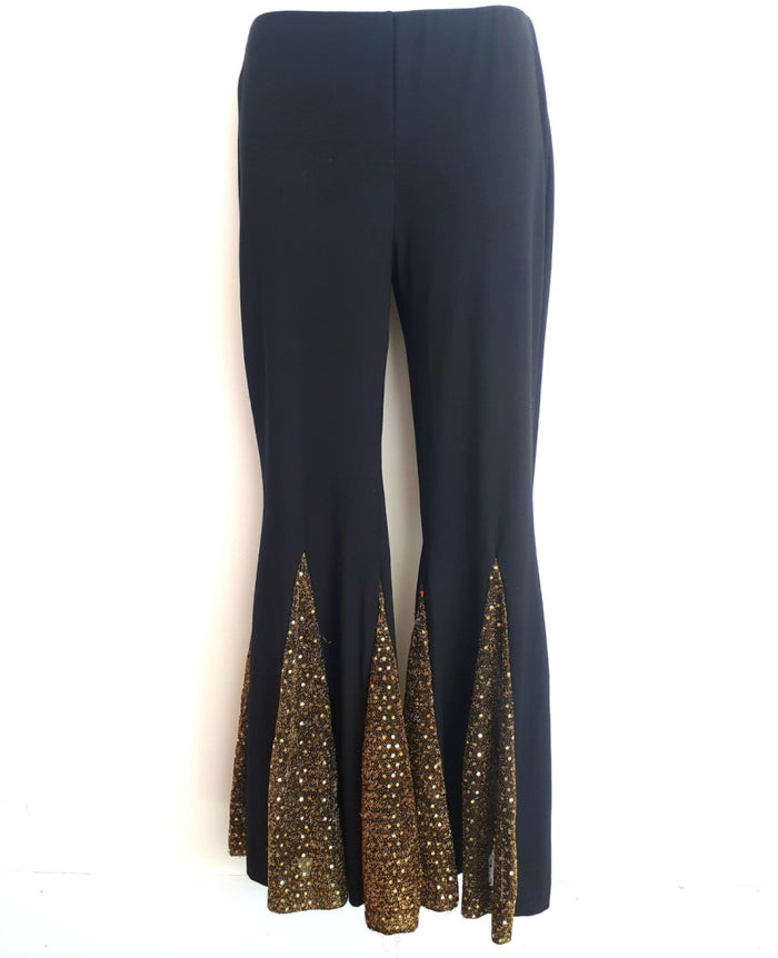 COSTUME RENTAL - X254 Disco Pants, Black and gold