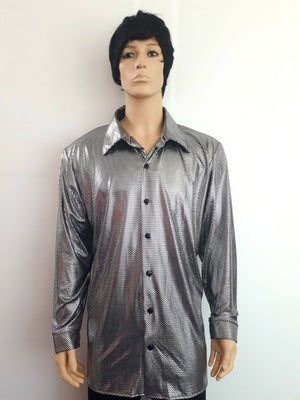 COSTUME RENTAL - X12 Disco Shirt, Silver