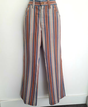 COSTUME RENTAL - X107 Pants, Blue and Orange Striped