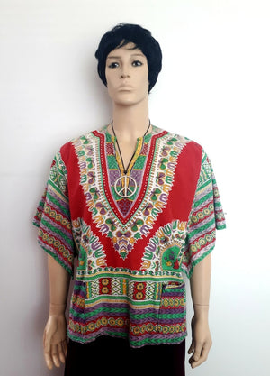 COSTUME RENTAL - X100 1960's Dashiki red