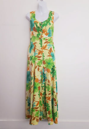 COSTUME RENTAL - X295 1960's Jumpsuit,  Floral Palazzo