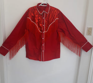 COSTUME RENTAL - H32 Cowgirl Shirt Red