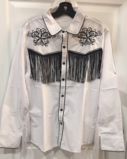 COSTUME RENTAL - H34 Western Shirt White