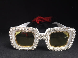 ACCESS: Glasses, white glitz Elton John