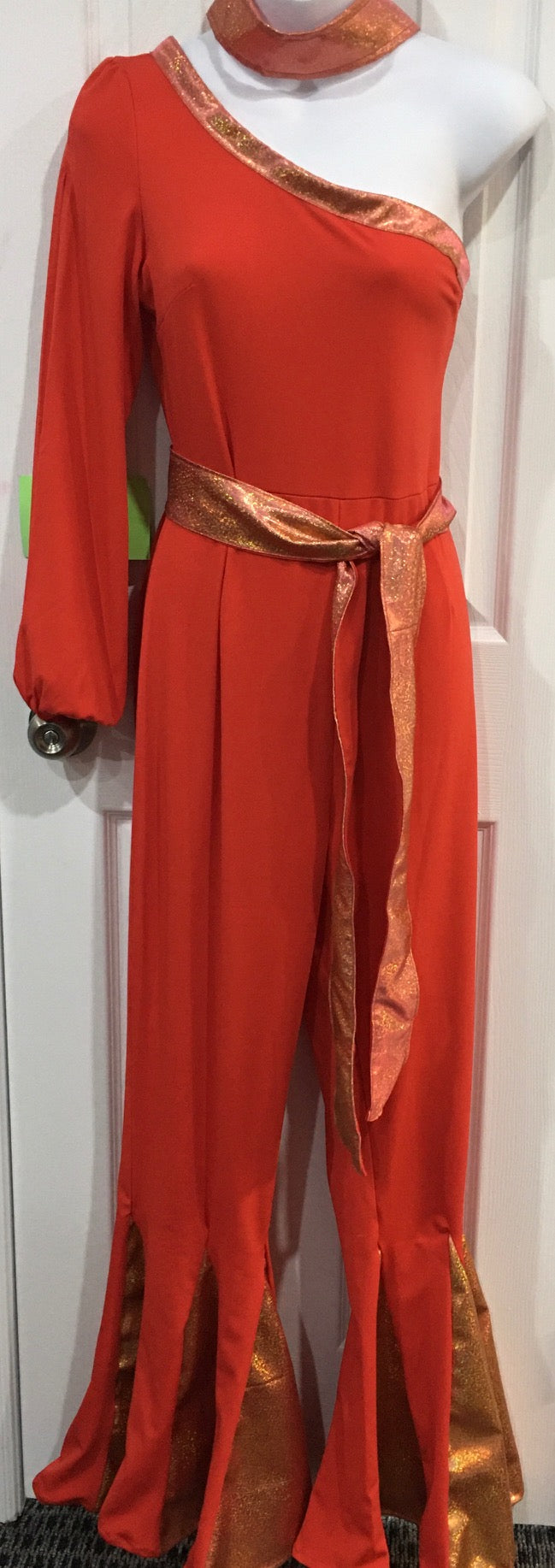 COSTUME RENTAL - X303 Jumpsuit, Red Disco