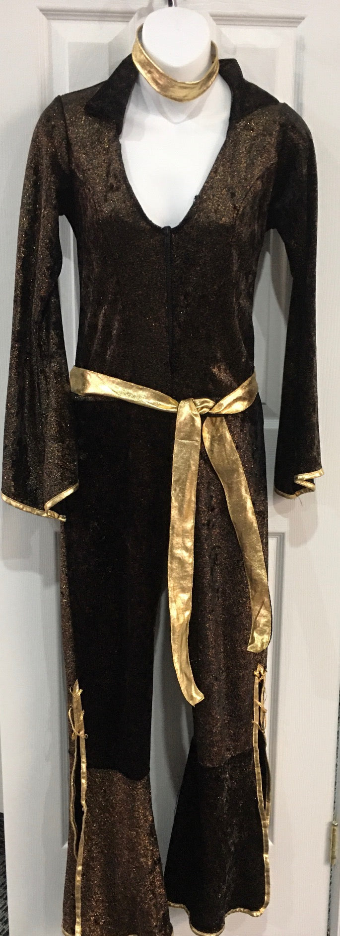 COSTUME RENTAL - X276 1970's Jumpsuit, Bronze - 3 piece