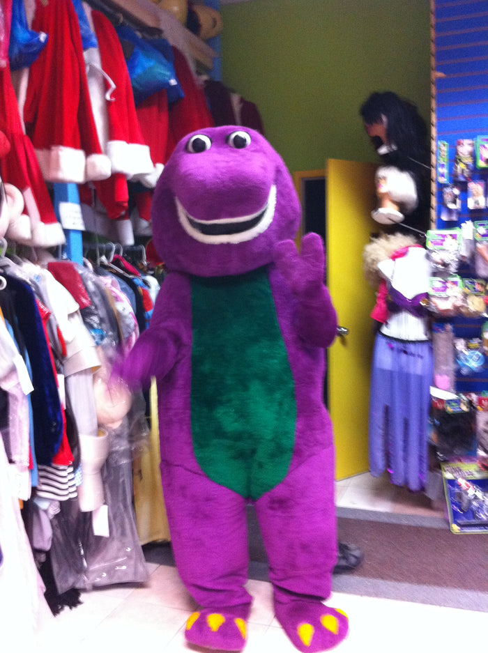 COSTUME RENTAL - R130 Barney Buddy Purple Dino 4 pc