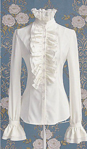 COSTUME RENTAL - H103 Pioneer/Period Frilly Blouse