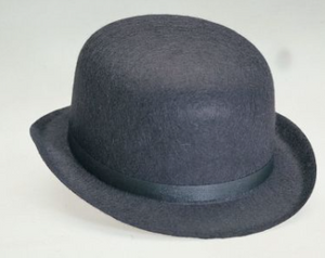 HAT:  DERBY- BLACK