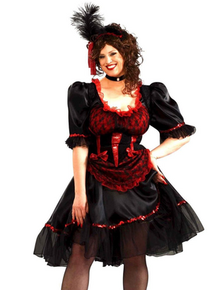 ADULT COSTUMES:  Saloon Girl