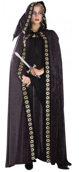 COSTUME RENTAL - A11c Renaissance Velvet Black Cape