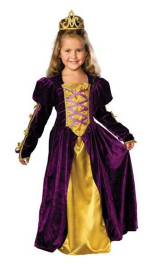 KIDS COSTUME:  Regal Purple Queen